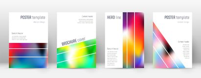 Flyer layout. Geometric beautiful template for Brochure, Annual Report, Magazine, Poster, Corporate Presentation, Portfolio, Flyer. Alluring colorful cover Royalty Free Stock Images