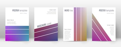 Flyer layout. Geometric divine template for Brochure, Annual Report, Magazine, Poster, Corporate Presentation, Portfolio, Flyer. Alluring gradient cover page Stock Photography