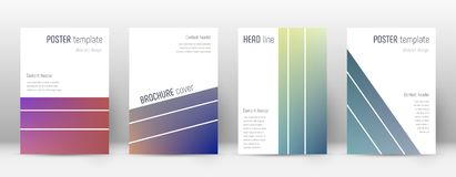 Flyer layout. Geometric ecstatic template for Brochure, Annual Report, Magazine, Poster, Corporate Presentation, Portfolio, Flyer. Alluring gradient cover page Stock Photos