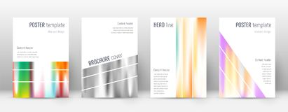 Flyer layout. Geometric good-looking template for Brochure, Annual Report, Magazine, Poster, Corporate Presentation, Portfolio, Flyer. Alluring lines cover Royalty Free Stock Photography