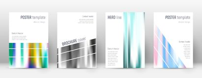 Flyer layout. Geometric mesmeric template for Brochure, Annual Report, Magazine, Poster, Corporate Presentation, Portfolio, Flyer. Alluring lines cover page Stock Image