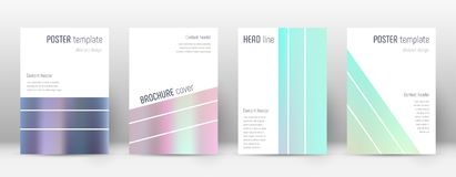 Flyer layout. Geometric precious template for Brochure, Annual Report, Magazine, Poster, Corporate Presentation, Portfolio, Flyer. Alluring pastel hologram Stock Photography
