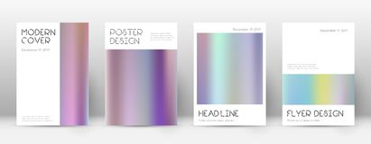 Flyer layout. Minimal amusing template for Brochure, Annual Report, Magazine, Poster, Corporate Presentation, Portfolio, Flyer. Appealing color gradients cover Stock Photo