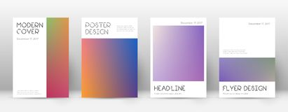 Flyer layout. Minimal memorable template for Brochure, Annual Report, Magazine, Poster, Corporate Presentation, Portfolio, Flyer. Appealing gradient cover page Royalty Free Stock Images