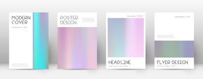 Flyer layout. Minimal valuable template for Brochure, Annual Report, Magazine, Poster, Corporate Presentation, Portfolio, Flyer. Appealing pastel hologram Royalty Free Stock Photography