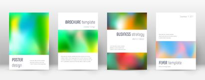 Flyer layout. Minimalistic alluring template for Brochure, Annual Report, Magazine, Poster, Corporate Presentation, Portfolio, Flyer. Astonishing colorful Royalty Free Stock Images