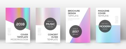 Flyer layout. Modern breathtaking template for Brochure, Annual Report, Magazine, Poster, Corporate Presentation, Portfolio, Flyer. Authentic pastel hologram Stock Photography