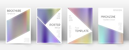 Flyer layout. Triangle alluring template for Brochure, Annual Report, Magazine, Poster, Corporate Presentation, Portfolio, Flyer. Bewitching color gradients Stock Images