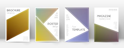Flyer layout. Triangle ecstatic template for Brochure, Annual Report, Magazine, Poster, Corporate Presentation, Portfolio, Flyer. Bewitching color transition Stock Photography
