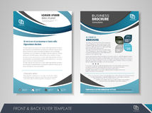 Flyer layout Stock Image