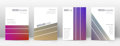 Flyer layout. Geometric delicate template for Brochure, Annual Report, Magazine, Poster, Corporate Presentation, Portfolio, Flyer. Alluring gradient cover page Stock Photo