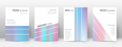 Flyer layout. Geometric neat template for Brochure, Annual Report, Magazine, Poster, Corporate Presentation, Portfolio, Flyer. Alluring pastel hologram cover Stock Images