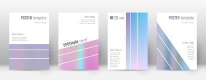 Flyer layout. Geometric optimal template for Brochure, Annual Report, Magazine, Poster, Corporate Presentation, Portfolio, Flyer. Alluring pastel hologram Stock Images