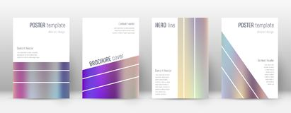 Flyer layout. Geometric pleasant template for Brochure, Annual Report, Magazine, Poster, Corporate Presentation, Portfolio, Flyer. Alive color gradients cover Royalty Free Stock Photo