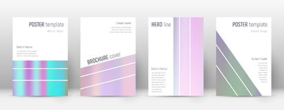 Flyer layout. Geometric popular template for Brochure, Annual Report, Magazine, Poster, Corporate Presentation, Portfolio, Flyer. Alluring pastel hologram Royalty Free Stock Photo