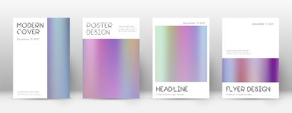 Flyer layout. Minimal alive template for Brochure, Annual Report, Magazine, Poster, Corporate Presentation, Portfolio, Flyer. Appealing color gradients cover Royalty Free Stock Image