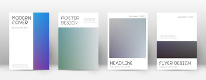 Flyer layout. Minimal astonishing template for Brochure, Annual Report, Magazine, Poster, Corporate Presentation, Portfolio, Flyer. Appealing color transition Stock Photography