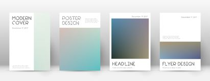 Flyer layout. Minimal authentic template for Brochure, Annual Report, Magazine, Poster, Corporate Presentation, Portfolio, Flyer. Appealing color transition Royalty Free Stock Photos