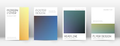 Flyer layout. Minimal classic template for Brochure, Annual Report, Magazine, Poster, Corporate Presentation, Portfolio, Flyer. Appealing color transition Royalty Free Stock Photography