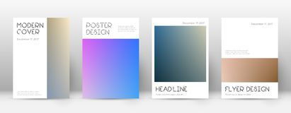 Flyer layout. Minimal comely template for Brochure, Annual Report, Magazine, Poster, Corporate Presentation, Portfolio, Flyer. Appealing color transition cover Stock Images