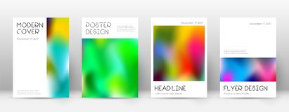 Flyer layout. Minimal dramatic template for Brochure, Annual Report, Magazine, Poster, Corporate Presentation, Portfolio, Flyer. Appealing colorful cover page Royalty Free Stock Image