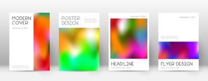 Flyer layout. Minimal fair template for Brochure, Annual Report, Magazine, Poster, Corporate Presentation, Portfolio, Flyer. Appealing colorful cover page Royalty Free Stock Image