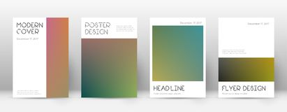Flyer layout. Minimal likable template for Brochure, Annual Report, Magazine, Poster, Corporate Presentation, Portfolio, Flyer. Appealing gradient cover page Stock Photography
