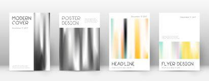 Flyer layout. Minimal optimal template for Brochure, Annual Report, Magazine, Poster, Corporate Presentation, Portfolio, Flyer. Appealing lines cover page Royalty Free Stock Image