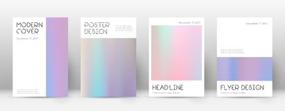 Flyer layout. Minimal stylish template for Brochure, Annual Report, Magazine, Poster, Corporate Presentation, Portfolio, Flyer. Appealing pastel hologram cover Stock Photography