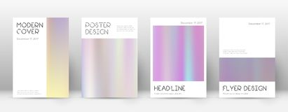 Flyer layout. Minimal wondrous template for Brochure, Annual Report, Magazine, Poster, Corporate Presentation, Portfolio, Flyer. Appealing pastel hologram Royalty Free Stock Photos