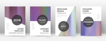 Flyer layout. Modern unusual template for Brochure. Annual Report, Magazine, Poster, Corporate Presentation, Portfolio, Flyer. Astonishing bright hologram stock illustration