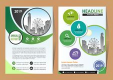 Flyer Layout, Poster, Magazine, Annual Report, Book, Booklet with Building Image. Magazine catalog for annual report cover brochure flyer for business stock illustration
