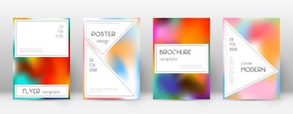 Flyer layout. Stylish ecstatic template for Brochure, Annual Report, Magazine, Poster, Corporate Presentation, Portfolio, Flyer. Awesome colorful cover page Stock Photo