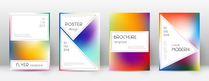 Flyer layout. Stylish enchanting template for Broc. Hure, Annual Report, Magazine, Poster, Corporate Presentation, Portfolio, Flyer. Authentic bright cover page stock illustration