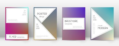 Flyer layout. Stylish enchanting template for Broc. Hure, Annual Report, Magazine, Poster, Corporate Presentation, Portfolio, Flyer. Awesome gradient cover page royalty free illustration