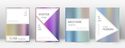 Flyer layout. Stylish pleasant template for Brochure, Annual Report, Magazine, Poster, Corporate Presentation, Portfolio, Flyer. Authentic color gradients Royalty Free Stock Photography