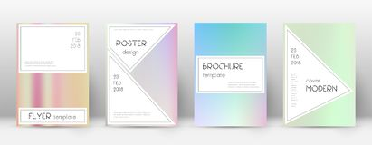 Flyer layout. Stylish sightly template for Brochur vector illustration