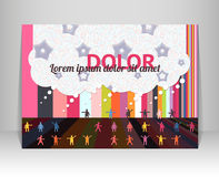 Flyer, leaflet, booklet layout. Editable design te Stock Images