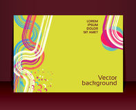 Flyer, leaflet, booklet layout. Editable design te Royalty Free Stock Images