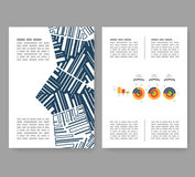Flyer, leaflet, booklet layout. Editable design template A4 Stock Image