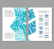 Flyer, leaflet, booklet layout. Editable design template A4 Royalty Free Stock Photos