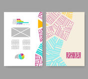 Flyer, leaflet, booklet layout. Editable design template A4 Stock Images
