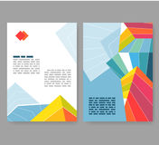 Flyer, leaflet, booklet layout. Editable design template A4 Royalty Free Stock Images