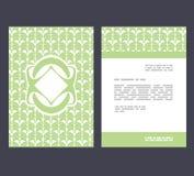 Flyer, leaflet, booklet layout. Editable design template A4 Stock Images