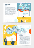 Flyer, leaflet, booklet layout. Editable design template A5 Royalty Free Stock Photo
