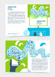 Flyer, leaflet, booklet layout. Editable design template A5 Royalty Free Stock Photography