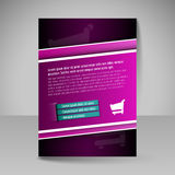 Flyer, magazine cover, brochure, template design for business pr Stock Photos