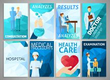 Flyer Medicine Set Stock Images