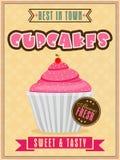Flyer or menu card for cupcake corner. Royalty Free Stock Image