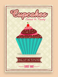 Flyer or menu card for cupcake corner. Royalty Free Stock Image